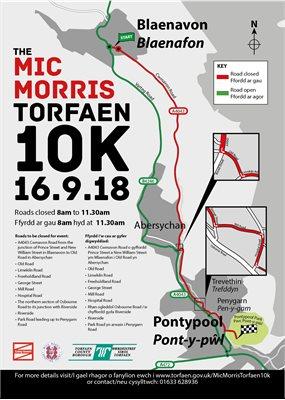 Road closures for the Mic Morris Torfaen 10k   Torfaen