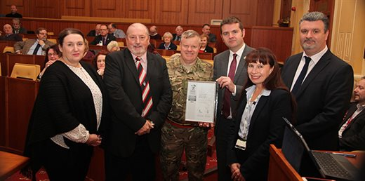 Torfaen receives Silver Armed Forces Covenant Award