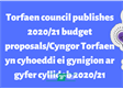 Torfaen council publishes 2020/21 budget proposals