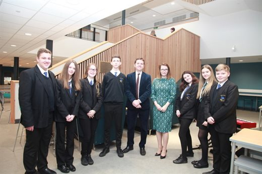 Croesyceiliog School officially opened