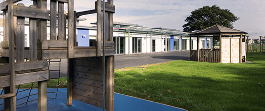 Llantarnam Community Primary School - A view from the rear of the site
