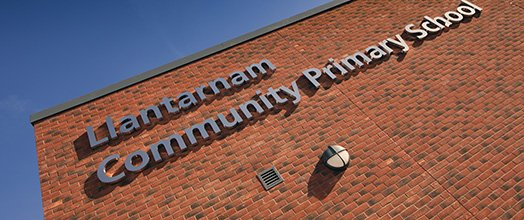 Llantarnam Community Primary School - The new sign