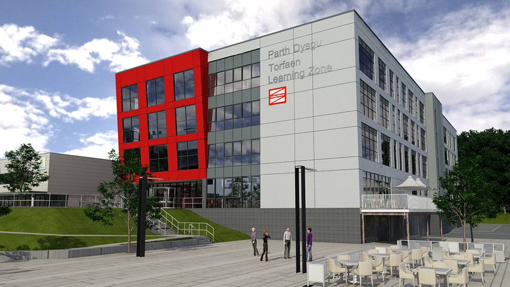 Artist impression of the Torfaen Learning Zone