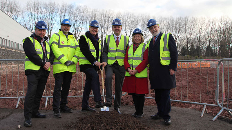 First sod cut at the Torfaen Learning Zone