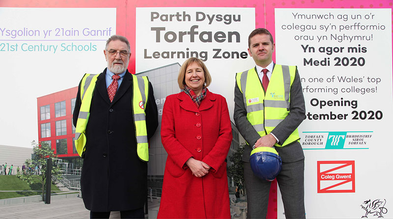 Sod cutting at the Torfaen Learning Zone