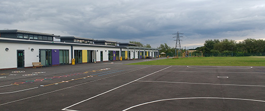 Ysgol Panteg - The playground and field at the rear of the school