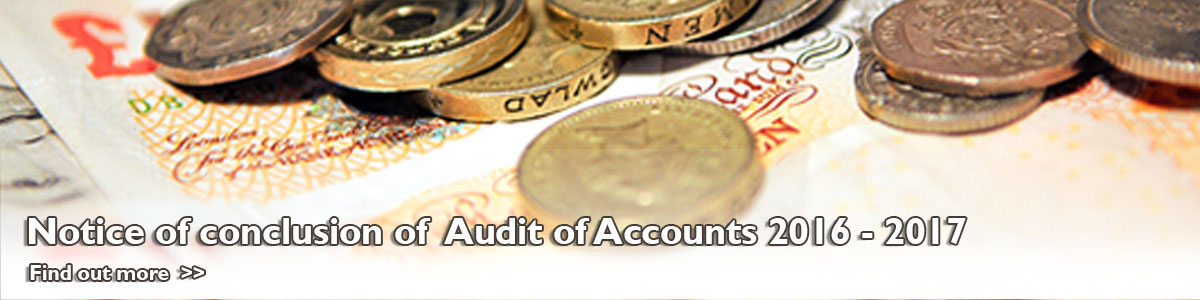 Notice of Conclusion of Audit of Accounts