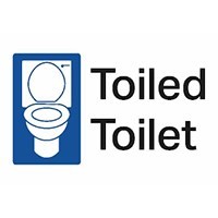 Public Conveniences - Look out for this symbol, it means you can pop in and use the toilets; you do not have to use the services of that building